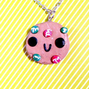 Cute Kawaii M&M chocolate chip cookie// Hand Painted//Geekery//Stocking Stuffers//Cyber Monday