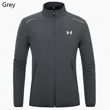 Under Armour Autumn and winter new fashion versatile lightweight casual sports men's stand collar jacket