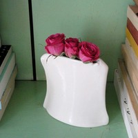 Hand built Porcelain Vessel One of a Kind by taylorceramics