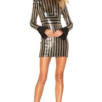 Zhivago Take That To The Bank Dress in Black & Gold | REVOLVE