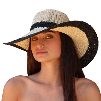 Palms & Sand Andros Womens Sun Hat Wide Brim Floppy