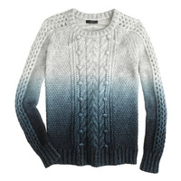 J.Crew Womens Collection Dip-Dye Sweater