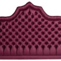 One Kings Lane - Kelly Wearstler: Modern Glamour - Purple Tufted Headboard, King