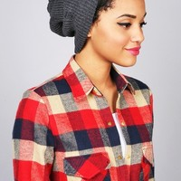 Torn Slouchy Beanie   Trendy Beanies at Pink Ice