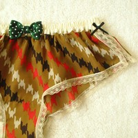 Vintage Style Print Boxer/style UGUISUmade to by Naomilingerie