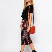 Glamorous Pencil Skirt in Check at asos.com