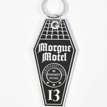 Sourpuss Silver & Black Morgue Motel Keychain