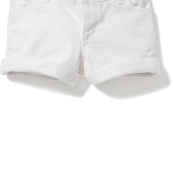 Cuffed White Denim Shorts for Toddler Girls | Old Navy
