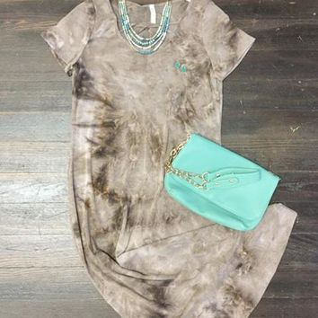 Mixed with You Tie Dye Midi Dress