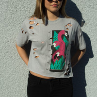 Captiva Flamingo Distressed Tee