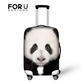 cute panda cover strentch elastic travel luggage protective covers suitcase18/20/22/24/26/28/30 inch case dust rain maleta viaje