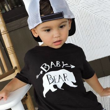 Baby Bear Black Crew Neck - Bear Tops for Kids