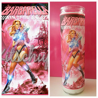 Barbarella prayer candle