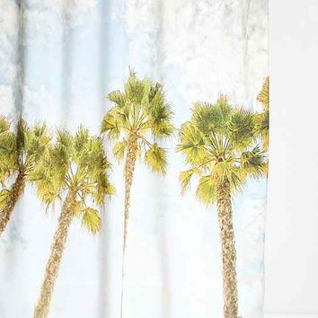 Shannon Clark For DENY Palm Tree Shower Curtain- Green One
