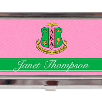 Business Card Case - Alpha Kappa Alpha Sorority Shield