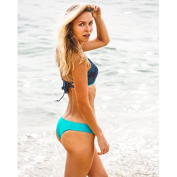Turquoise Carmella Cheeky Bikini Bottom- Limited Time Offer