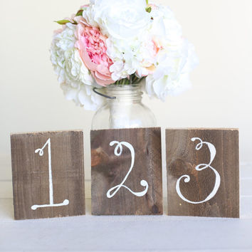 Wedding Table Numbers Rustic Chic Wood Barn Wedding (Item Number 140346) NEW ITEM