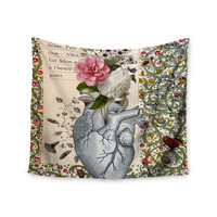 "Suzanne Carter ""Her Heart Is A Garden"" Beige Green Wall Tapestry"
