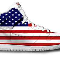 American Flag Nike Dunks by Customs4you on Etsy