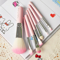 Pink Red 7-pcs Make-up Brush Set = 4830991876