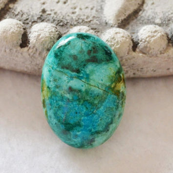 Chrysocolla cabochon, wire wrapping, oval cabochon, bezel setting, jewelry supplies, loose cabochons, natural chyrsocolla, semi precious