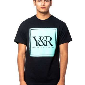 Trademark Box Tee - Black/Ice Green
