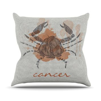 "Belinda Gillies ""Cancer"" Throw Pillow"