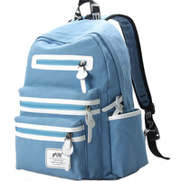 Canvas Backpack with Multi Pockets
