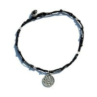 Handmade Gate Opening King Solomon Seal Anklet in Black