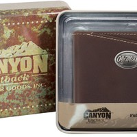 Canyon Outback Ole Miss Rebels Leather Wallet Bi-fold Design