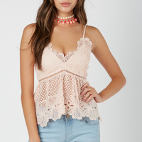 Peek-A-Boo Crochet Top