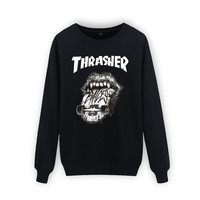 New 2016 thrasher hoodie men sweatshirt mens trasher hoodies and sweatshirts thin felpe sudaderas hombre o-neck hip hop hoodies