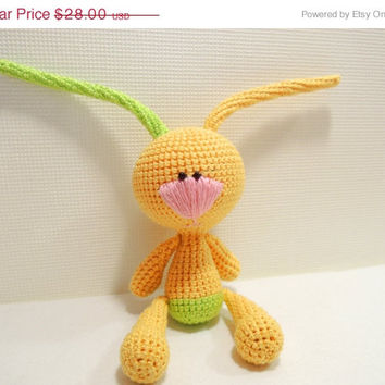 Xmas Sale 25% Funny Bunny Cute stuffed animal Crochet kids toys Soft toys for baby Birthday gift Christmas gift Child gift