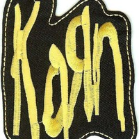 Korn Iron-On Patch Yellow Letters Logo