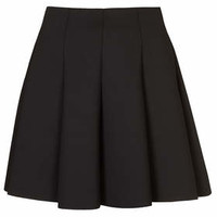 Black Scuba Flippy Skirt - Black