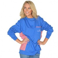 Prepcheck Sweatshirt in Royal Blue with Crimson Gingham by Lauren James