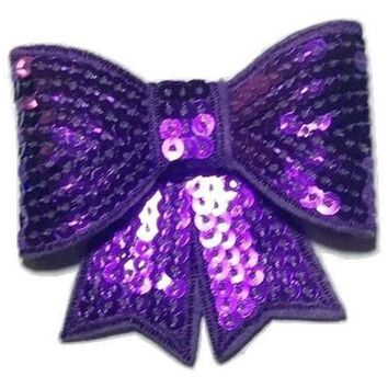 "Purple JUMBO 3"" sequin bow"