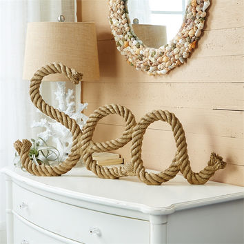 "Two's Company ""Sea"" Decorative Rope Sculpture 26-in"