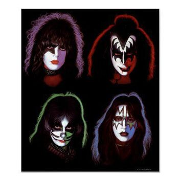 KISS Blacklight Poster Print from Zazzle.com