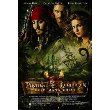Pirates Of The Caribbean Dead Man's Chest Metal Print 8in x 12in