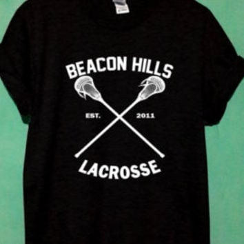beacon shirt beacon lacrosse tshirt teen wolf shirt stilinski shirt size S,M,L,XL