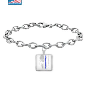 Law Enforcement Patriotic Thin Blue Line Bracelet