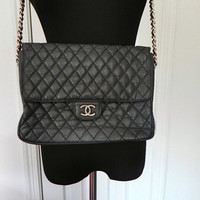 Vintage Quilted Chanel Leather Bekko Chain by vintageworldrocks