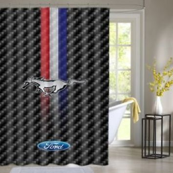 Ford Mustang Classic logo Custom Shower Curtain Waterproof High Quality 60 x 72