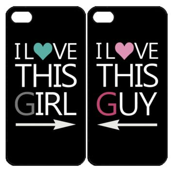 I Love This Girl and Guy MatchinSamsung Galaxy S3 S4 S5 S6 Edge Note 3 4 , iPhone 4 4S 5 5s 5c 6 Plus , iPod Touch 4 5 , HTC One M7 M8 M9 ,LG G2 G3 Couple Case