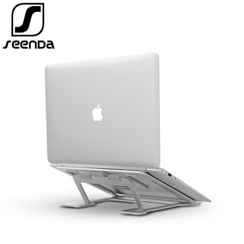 SeenDa Height Adjustable Laptop Stand for MacBook Foldable Lapdesk Office Stands for Dell Aluminium Portable Thinkpad Holders
