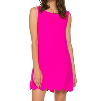 Hot Pink Scallop Dress