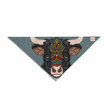 "Art Love Passion ""Steve The Bull"" Gray Brown Pet Bandana"