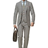 Suit Grey Plain Havana P3844 | Suitsupply Online Store