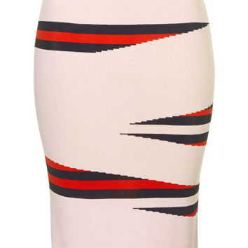 Eraser Stripe Pencil Skirt - Topshop